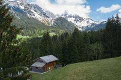 Fred's Hütte mit traumhaften Ausblick auf die Bischofsmütze