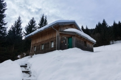 Eingang Fred's Hütte